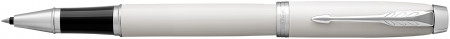 Parker IM Rollerball Pen - White Chrome Trim