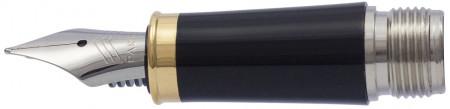 Parker IM Black Gold Trim Nib - Stainless Steel
