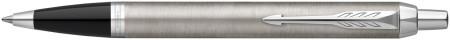 Parker IM Ballpoint Pen - Brushed Metal Chrome Trim