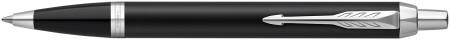 Parker IM Ballpoint Pen - Matte Black Chrome Trim