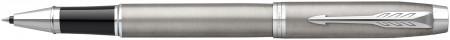 Parker IM Rollerball Pen - Brushed Metal Chrome Trim