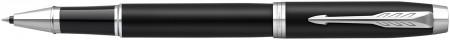 Parker IM Rollerball Pen - Matte Black Chrome Trim
