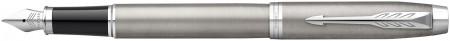 Parker IM Fountain Pen - Brushed Metal Chrome Trim