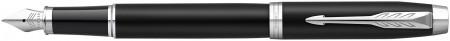 Parker IM Fountain Pen - Matte Black Chrome Trim