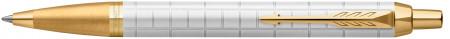 Parker IM Premium Ballpoint Pen - Pearl White Gold Trim
