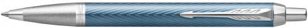 Parker IM Premium Ballpoint Pen - Blue Grey Chrome Trim
