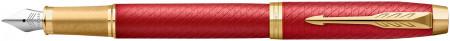 Parker IM Premium Fountain Pen - Matte Red Gold Trim