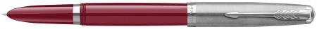 Parker 51 Fountain Pen - Burgundy Resin Chrome Trim