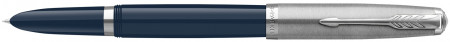 Parker 51 Fountain Pen - Midnight Blue Resin Chrome Trim