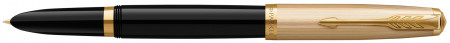 Parker 51 Fountain Pen - Black Resin Gold Trim with Solid 18K Gold Nib