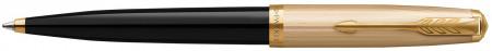 Parker 51 Ballpoint Pen - Black Resin Gold Trim