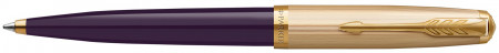 Parker 51 Ballpoint Pen - Plum Resin Gold Trim