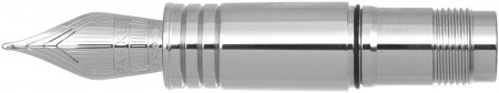 Parker Premier Monochrome Black Trim Nib - Solid 18K Gold Ruthenium Plated