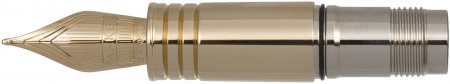 Parker Premier Silver Trim Nib - Solid 18K Gold Rhodium Plated