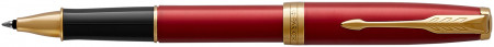 Parker Sonnet Rollerball Pen - Red Satin Gold Trim