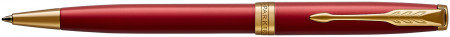 Parker Sonnet Ballpoint Pen - Red Satin Gold Trim