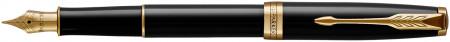 Parker Sonnet Fountain Pen - Black Lacquer Gold Trim