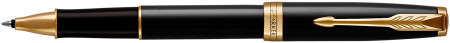 Parker Sonnet Rollerball Pen - Black Lacquer Gold Trim