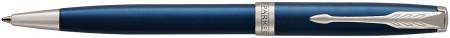 Parker Sonnet Ballpoint Pen - Blue Lacquer Chrome Trim