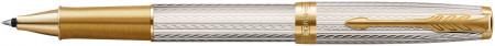 Parker Sonnet Premium Rollerball Pen - Silver Mistral
