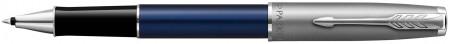 Parker Sonnet Essentials Rollerball Pen - Matte Blue & Sandblasted Steel