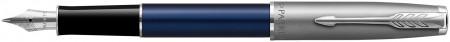 Parker Sonnet Essentials Fountain Pen - Matte Blue & Sandblasted Steel