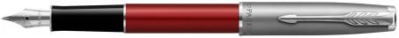 Parker Sonnet Essentials Fountain Pen - Matte Red & Sandblasted Steel