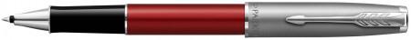 Parker Sonnet Essentials Rollerball Pen - Matte Red & Sandblasted Steel
