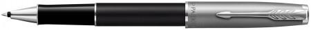 Parker Sonnet Essentials Rollerball Pen - Matte Black & Sandblasted Steel