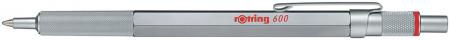 Rotring 600 Ballpoint Pen - Silver Barrel