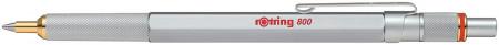 Rotring 800 Ballpoint Pen - Silver Barrel