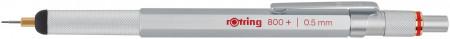 Rotring 800+ Mechanical Pencil & Stylus - Silver Barrel - 0.50mm