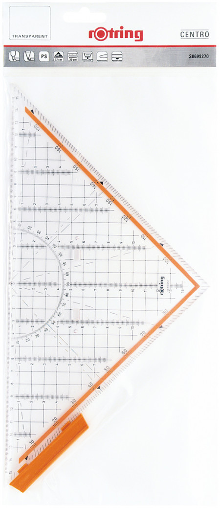 Rotring Centro Set Square Professional - 30cm