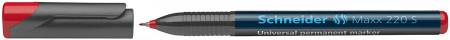 Schneider Maxx 220 Permanent Marker - Superfine - Red