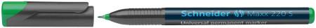 Schneider Maxx 220 Permanent Marker - Superfine - Green