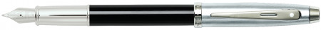 Sheaffer 100 Fountain Pen - Gloss Black Brushed Chrome