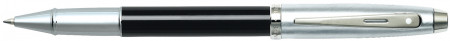 Sheaffer 100 Rollerball Pen - Black Lacquer Brushed Chrome