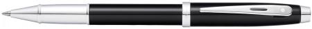 Sheaffer 100 Rollerball Pen - Black Lacquer Chrome Trim
