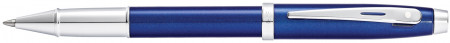 Sheaffer 100 Rollerball Pen - Blue Lacquer Chrome Trim