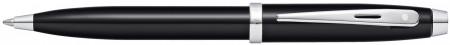 Sheaffer 100 Ballpoint Pen - Black Lacquer Chrome Trim