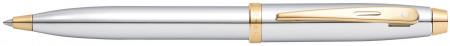Sheaffer 100 Ballpoint Pen - Medalist Chrome & Gold (Clamshell)