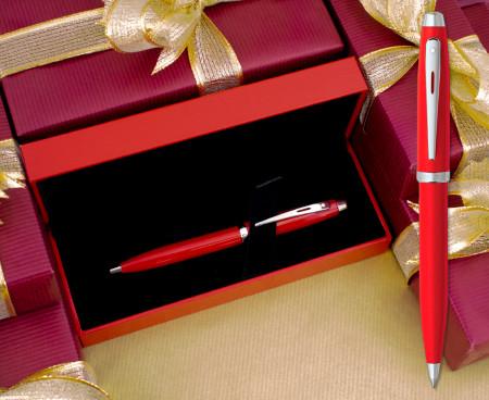 Sheaffer Ferrari 100 Ballpoint Pen - Rosso Corsa Chrome Trim
