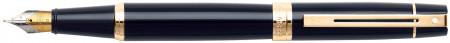 Sheaffer 300 Fountain Pen - Gloss Black Gold Trim