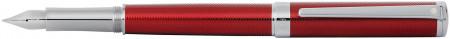 Sheaffer Intensity Fountain Pen - Engraved Translucent Red Chrome Trim