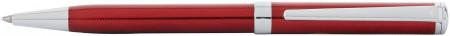 Sheaffer Intensity Ballpoint Pen - Engraved Translucent Red Chrome Trim