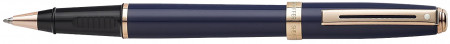 Sheaffer Prelude Rollerball Pen - Cobalt Blue Rose Gold Trim