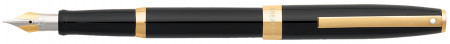 Sheaffer Sagaris Fountain Pen - Gloss Black Gold Trim