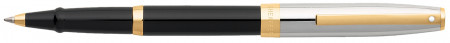 Sheaffer Sagaris Rollerball Pen - Black Lacquer Chrome & Gold