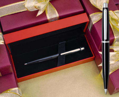 Sheaffer Ferrari VFM Ballpoint Pen - Gloss Black Chrome Trim
