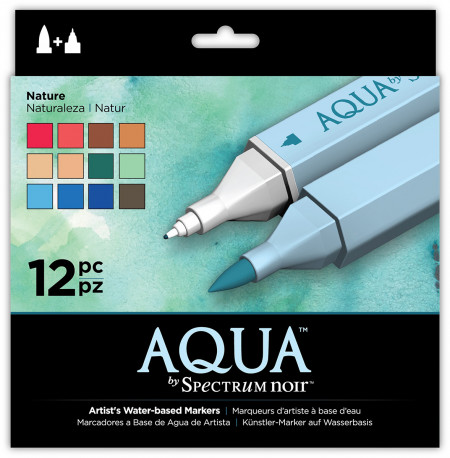 Spectrum Noir Aqua Watercolour Markers - Nature (Pack of 12)